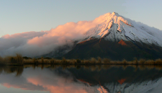 Sunrise on Taranaki